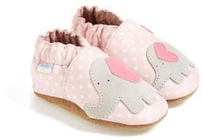 Robeez Infant Girl's 'Little Peanut' Crib Shoe