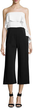 Donna Morgan Women's Ruffled Two-Tone Jumpsuit