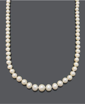Belle de Mer Pearl Necklace, 18 14k Gold Aa Cultured Freshwater Pearl Graduated Strand (6-9.5mm)
