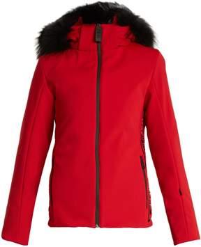 Fendi Logo-print fur-trimmed ski jacket