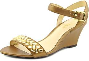 Lauren Ralph Lauren Hessa Women US 5.5 Gold Wedge Sandal