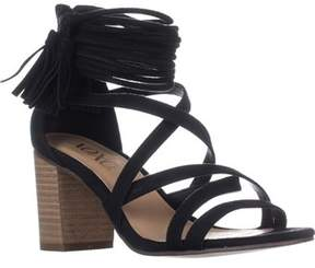 XOXO Elle Block-heel Ankle-strap Sandals, Black.