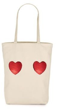 Marc Jacobs Heart Cotton Tote - ECRU - STYLE