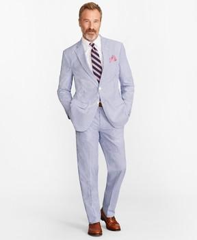 Brooks Brothers Madison Fit Stripe Seersucker Suit