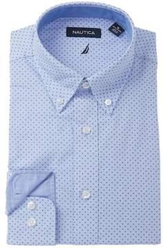 Nautica Printed Classic Fit Dress Shirt