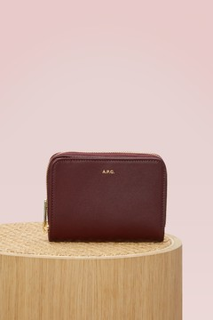 A.p.c. Leather Compact wallet