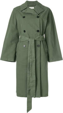 Masscob denim trench coat