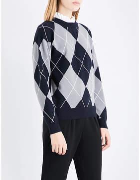 Claudie Pierlot Argyle knitted jumper