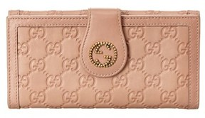 Gucci Pink Guccissima Leather Gg Tab Wallet. - PINK MULTI - STYLE