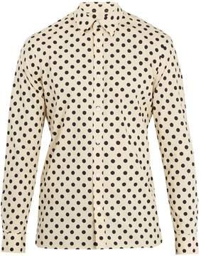 Burberry Polka-dot print single-cuff cotton shirt