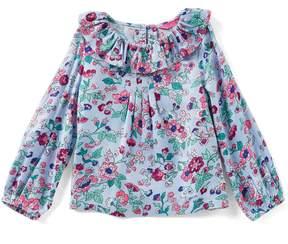 Joules Little Girls 1-6 Long-Sleeve Ruffle Floral Top