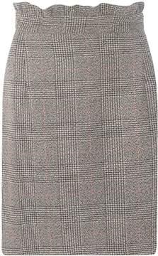 Dorothy Perkins **Tall Grey and Black Checked Frill Mini Skirt
