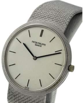 Patek Philippe Calatrava 3520 18K White Gold Manual Wind Mens Watch