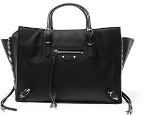 Balenciaga Papier A6 Small Leather Tote - Black
