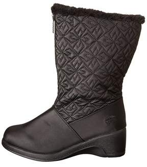 totes Womens Joni Fabric Round Toe Knee High Cold Weather Boots.