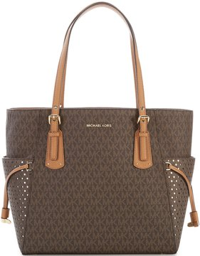 MICHAEL Michael Kors Signature Voyager East/West Tote - BROWN/ACORN - STYLE