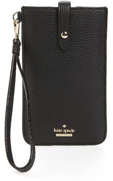 Kate Spade Leather Smartphone Wristlet - Black - BLACK - STYLE