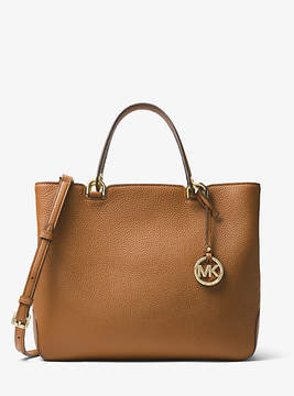 Michael Kors Anabelle Leather Tote - BROWN - STYLE