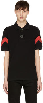 Givenchy Black and Red Oversized Polo
