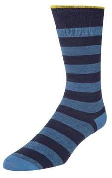 Cole Haan Tipped Polo Stripe Crew Socks