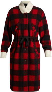 Etoile Isabel Marant Glitz tie-waist checked coat