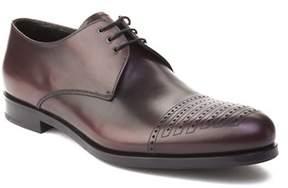 Prada Men's Leather Oxford Dress Shoes Maroon.
