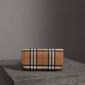 Burberry Vintage Check Continental Wallet with Zip Card Case