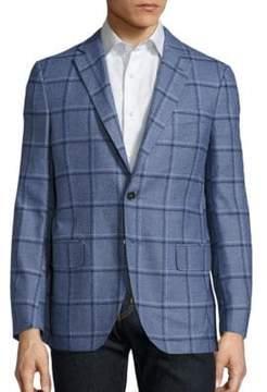 Isaia Regular-Fit Tonal Plaid Wool Jacket