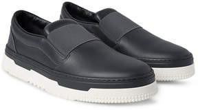 Valentino Rubberised-Leather Slip-On Sneakers