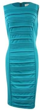 Calvin Klein Women's Pintucked Ponte Sheath Dress