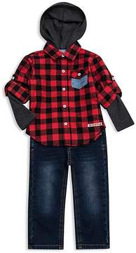 Hudson Boys' Flannel Thermal Shirt & Jeans Set - Baby