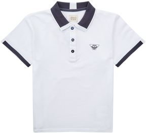 Armani Junior Contrast Polo Shirt