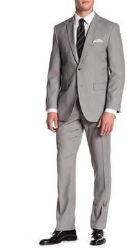Perry Ellis Grey Two Button Notch Lapel Slim Fit Suit