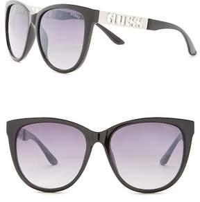 GUESS Cat Eye Acetate Frame Sunglasses