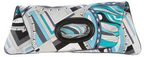 Emilio Pucci Leather-Trimmed Printed Satchel
