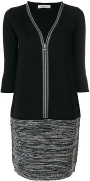 D-Exterior D.Exterior v-neck knitted dress