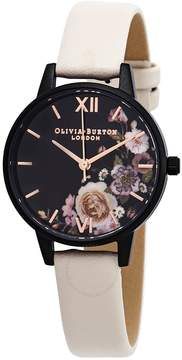 Olivia Burton After Dark Marble Floral Black Dial Ladies Watch