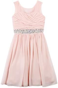 Speechless Girls 7-16 Pleated Bodice Rhinestone Dress