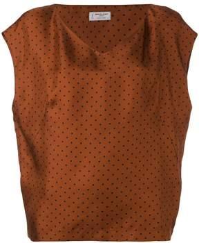 Alberto Biani V-neck spot blouse
