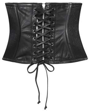 McQ Leather corset
