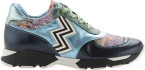 Missoni Footwear ZigZag Blue Sneaker (Women's)