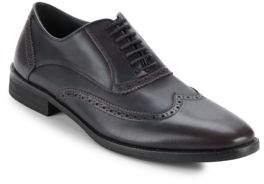 John Varvatos Wingtip-Toe Leather Oxfords