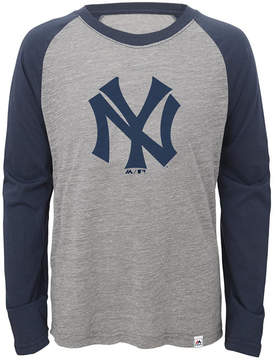 Majestic New York Yankees Margin Coop Raglan T-Shirt, Big Boys (8-20)