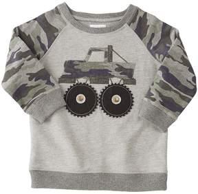 Mud Pie Camo Truck Sweatshirt Boy's Sweatshirt