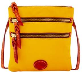Dooney & Bourke Nylon North South Triple Zip Shoulder Bag - YELLOW - STYLE