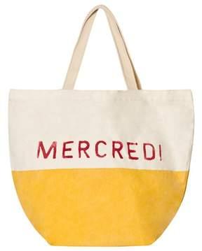 Bobo Choses Yellow Mercredi Colour Block Tote Bag