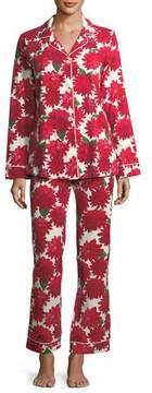 BedHead Dahlia Poinsettia-Print Long-Sleeve Pajama Set