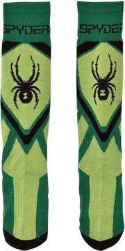 Spyder Green Colour Block Venture Sock