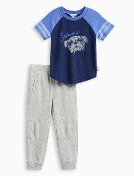 Splendid Little Boy Athletic Set with Brushed French Terry Pant