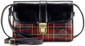 Patricia Nash Gold Foil Tartan Collection Bianco Cross-Body Bag